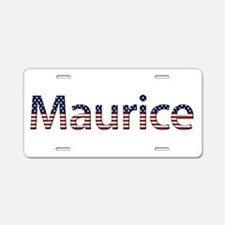 Maurice Stars and Stripes Aluminum License Plate