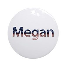 Megan Stars and Stripes Round Ornament