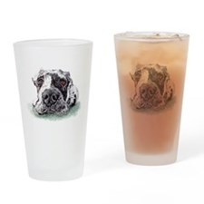 Great Dane Taped Merle Drinking Glass