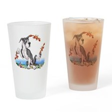 Great Dane Mantle Crabby Drinking Glass