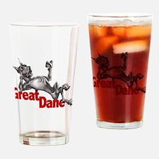 Great Dane Black LB Drinking Glass