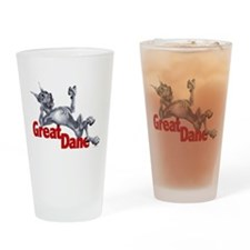 Great Dane Blue LB Drinking Glass