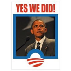 Obama - Yes We Did! Poster