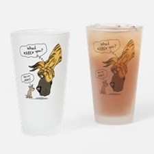 Brindle Dane WhatRU Drinking Glass