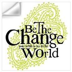 Paisley Green - Be the change Wall Decal