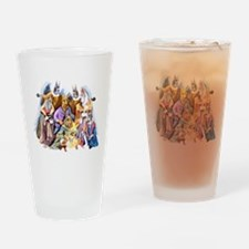 Great Dane Nativity Drinking Glass