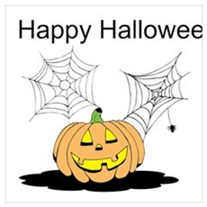 Spider Pumpkin Poster