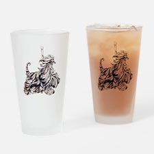 Afghan Hound Carousel I Drinking Glass