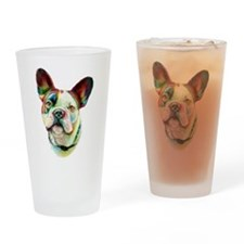 French Bulldog BRT Bust Drinking Glass
