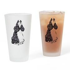 Cocker Spaniel BW Parti Drinking Glass