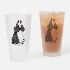 Cocker Spaniel BW Parti Drinking Glass