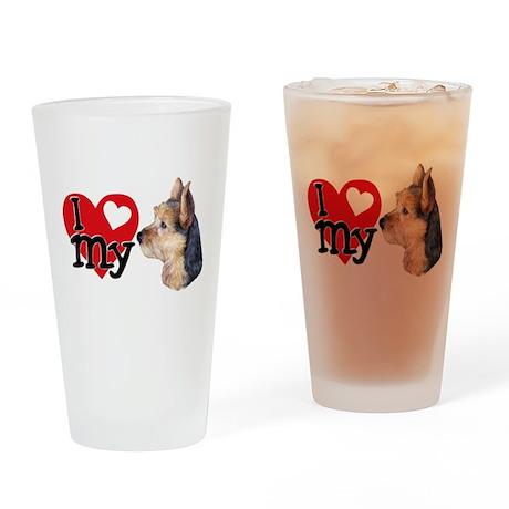 I (heart) my Australian Terri Drinking Glass