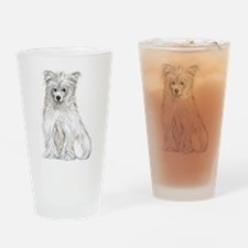 Chinese Crested Powder Puff Drinking Glass