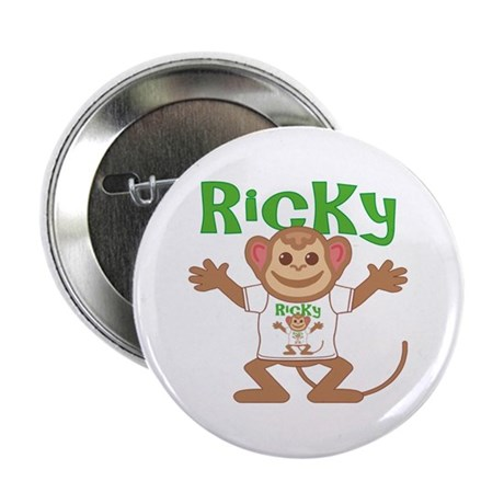 """Little Monkey Ricky 2.25"""" Button"""