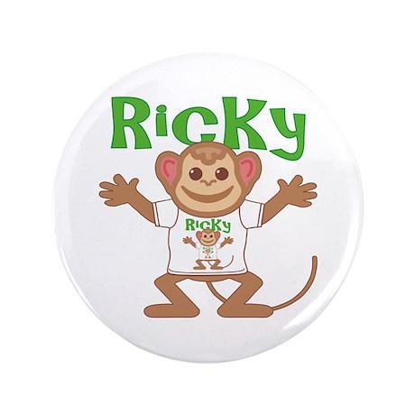 """Little Monkey Ricky 3.5"""" Button"""
