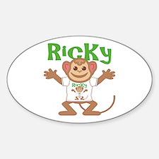 Little Monkey Ricky Sticker (Oval)
