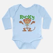 Little Monkey Ricky Long Sleeve Infant Bodysuit