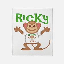 Little Monkey Ricky Throw Blanket