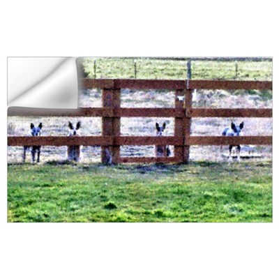 - Gang by fence line Wall Decal