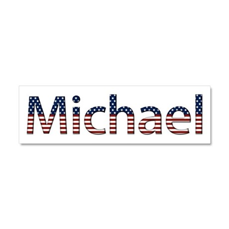 Michael Stars and Stripes 10x3 Car Magnet