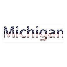 Michigan Stars and Stripes 42x14 Wall Peel