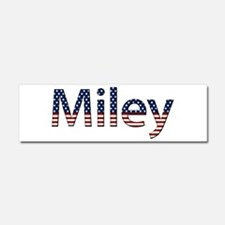 Miley Stars and Stripes 10x3 Car Magnet