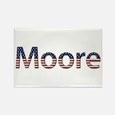 Moore Stars and Stripes Rectangle Magnet