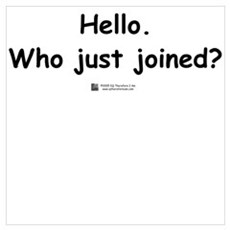 Who just joined? Poster