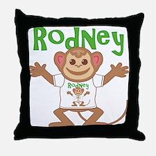 Little Monkey Rodney Throw Pillow