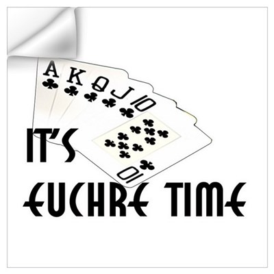 Euchre Time Wall Decal