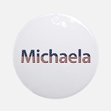 Michaela Stars and Stripes Round Ornament