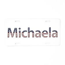 Michaela Stars and Stripes Aluminum License Plate