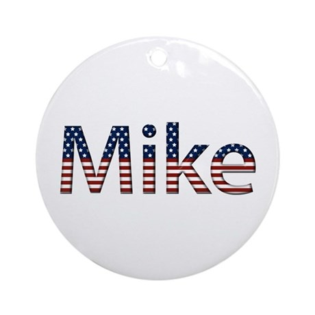 Mike Stars and Stripes Round Ornament