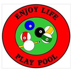 Enjoy Life Play Pool Framed Print