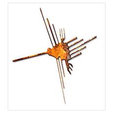 Nazca Hummingbird-rust Poster