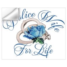 Police Wife For Life Wall Decal
