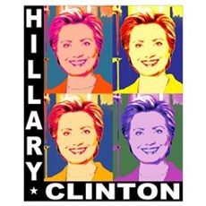 Hilary Pop Art Framed Print