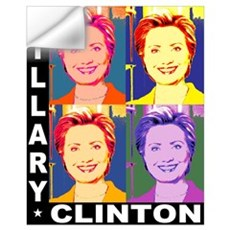Hilary Pop Art Wall Decal