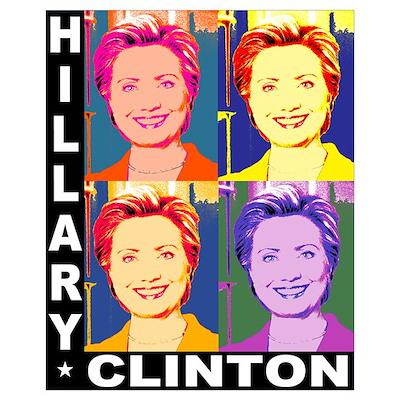 Hilary Pop Art Poster