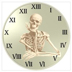 13 Hour Skeleton clock Poster