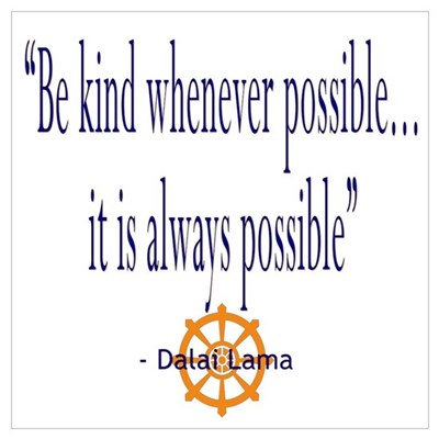 DALAI LAMA QUOTE BE KIND Canvas Art