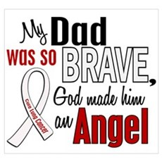 Angel 1 DAD Lung Cancer Canvas Art