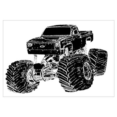 Monster Pickup Truck Framed Print