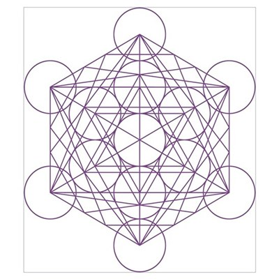 of Metatron's cube Framed Print