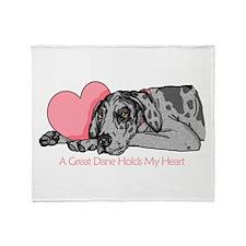 Merle UC Holds Heart Throw Blanket