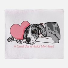 MerleB UC Holds Heart Throw Blanket