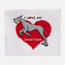 Love Black Dane Throw Blanket