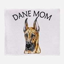 Brindle Dane Mom Throw Blanket
