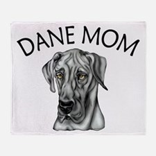 Black UC Dane Mom Throw Blanket