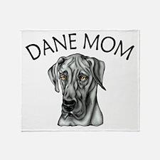 Black UC Dane Mom Throw Blanket